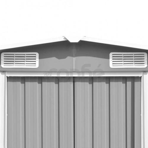 Градинска барака, 257x298x178 см, метал, сива