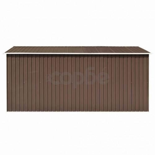 Градинска барака, 257x392x181 см, метал, кафява