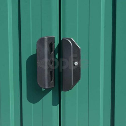 Градинска барака, 257x580x181 см, метал, зелена
