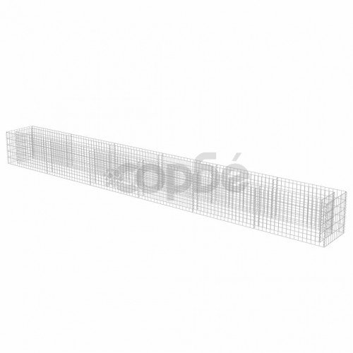 Габион плантер, поцинкована стомана, 540x50x50 cм