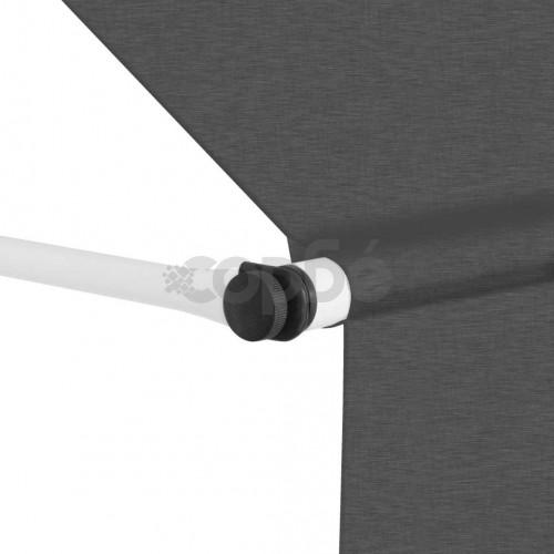 Ръчно прибиращ се сенник, 400 см, антрацит