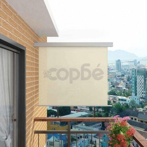 Вертикална тента за балкон мултифункционална 150х200 см кремава