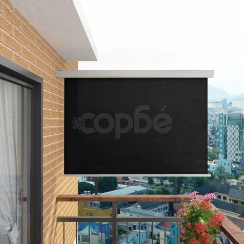 Вертикална тента за балкон мултифункционална 180х200 см черна