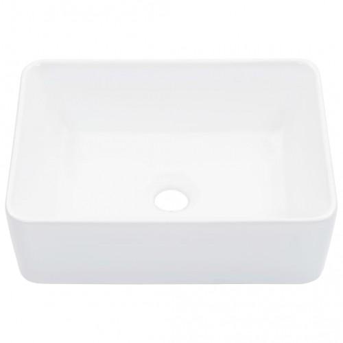 Мивка, 40x30x13 см, керамична, бяла