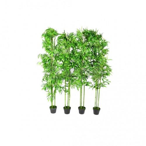 Комплект от 4 броя изкуствени декоративни бамбукови дръвчета, 190 см.