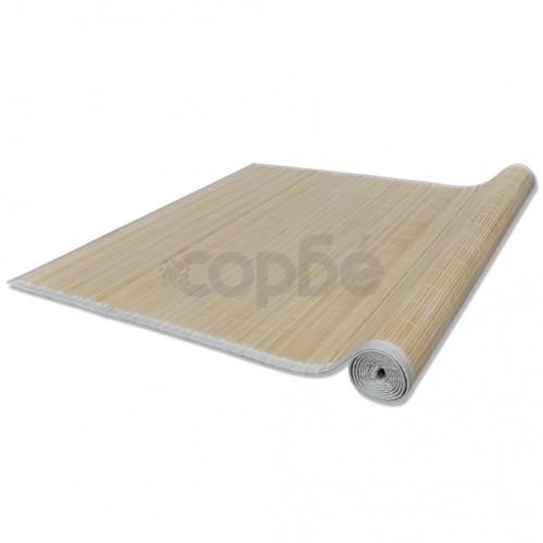 Правоъгълен естествен бамбуков килим 80 x 300 см