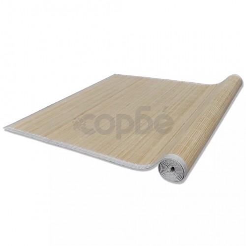 Правоъгълен естествен бамбуков килим 120 x 180 см
