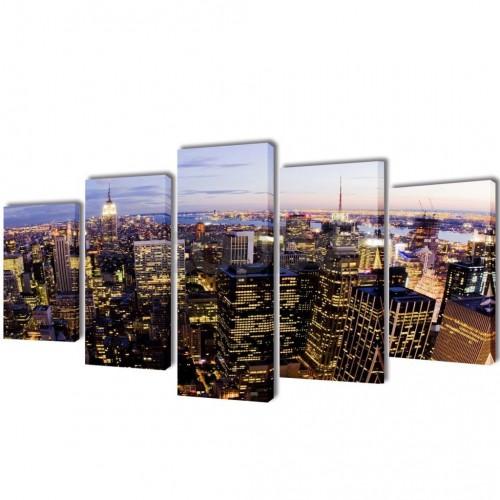 Декоративни панели за стена Ню Йорк от птичи поглед, 200 x 100 см