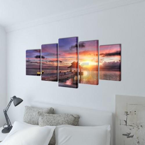 Декоративни панели за стена Беседка на плажа, 200 x 100 см