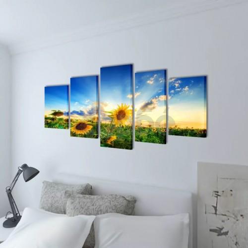 Декоративни панели за стена Слънчоглед, 200 x 100 см