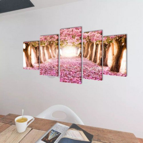 Декоративни панели за стена Черешов цвят, 200 x 100 см