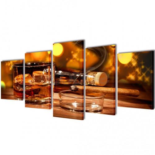 Декоративни панели за стена Уиски и пура, 200 x 100 см