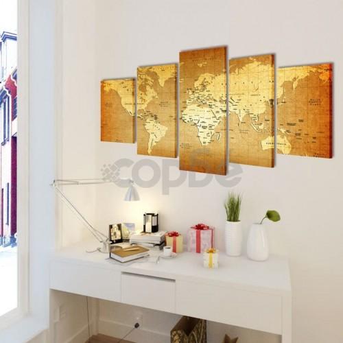 Декоративни панели за стена Карта на света, 200 x 100 см