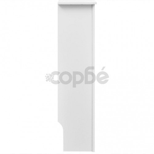 Бяла MDF декоративна решетка за отопляващ радиатор, 152 см