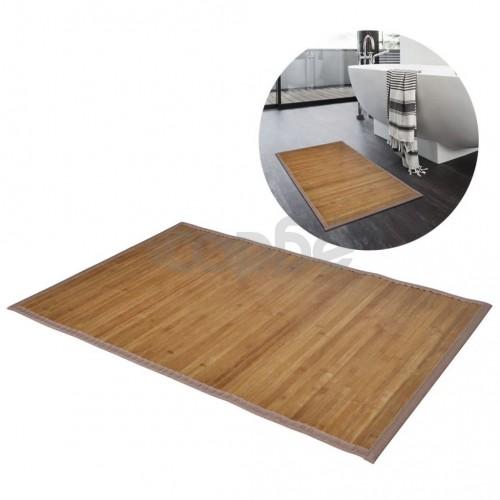 Бамбукови постелки за баня 40 x 50 см, кафяви - 2 бр