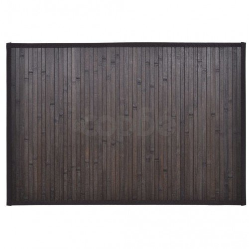 Бамбукова постелка за баня 60 x 90 см, тъмно кафява