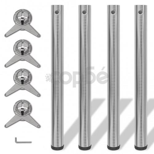 4 крака за регулиране на височината на маси, матиран никел, 710 мм