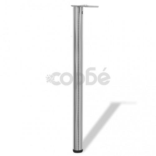 4 крака за регулиране на височината на маси, матиран никел, 870 мм