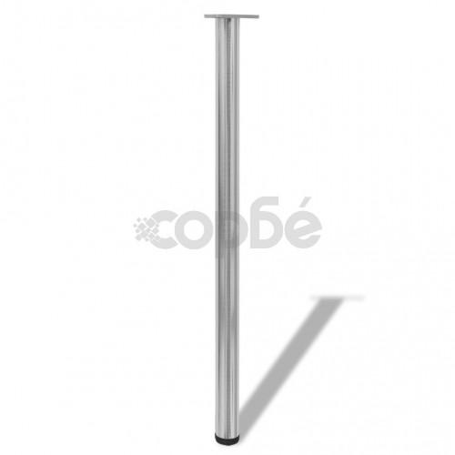 4 крака за регулиране на височината на маси, матиран никел, 1100 мм