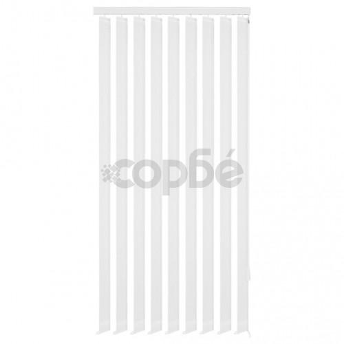 Вертикална щора, плат, 120x250 см, бяла
