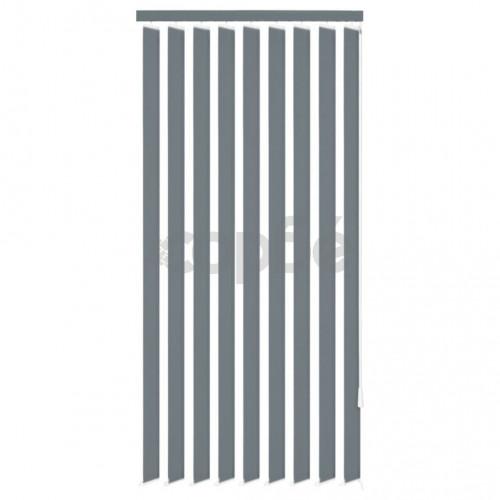 Вертикална щора, плат, 120x250 см, сива