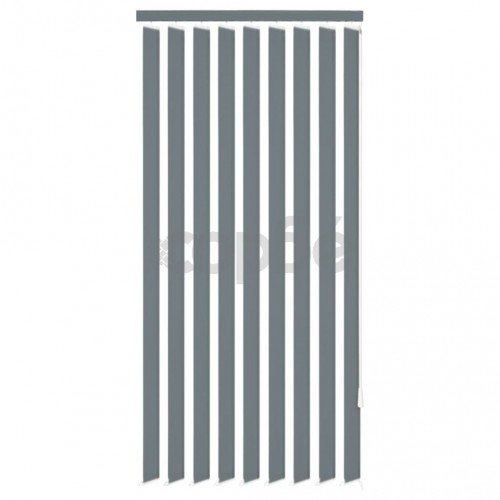 Вертикална щора, сива, текстил, 195x250 см