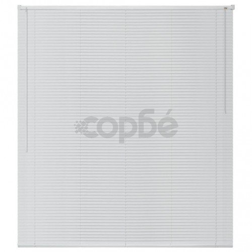 Алуминиеви щори за прозорци, 100x160 см, бели