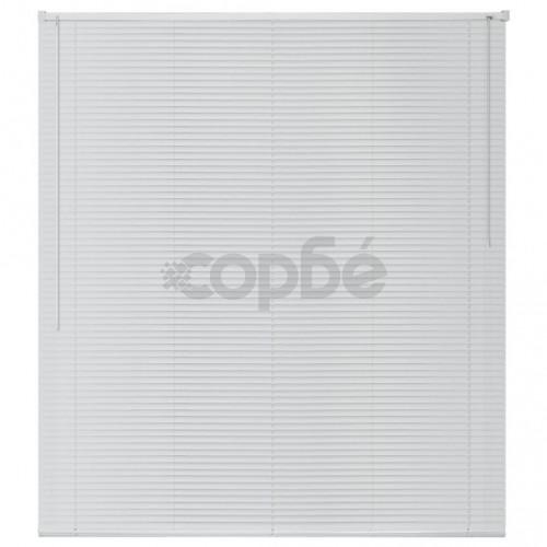 Алуминиеви щори за прозорци, 160x160 см, бели
