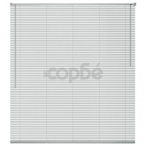 Алуминиеви щори за прозорци, 60x130 см, сребристи