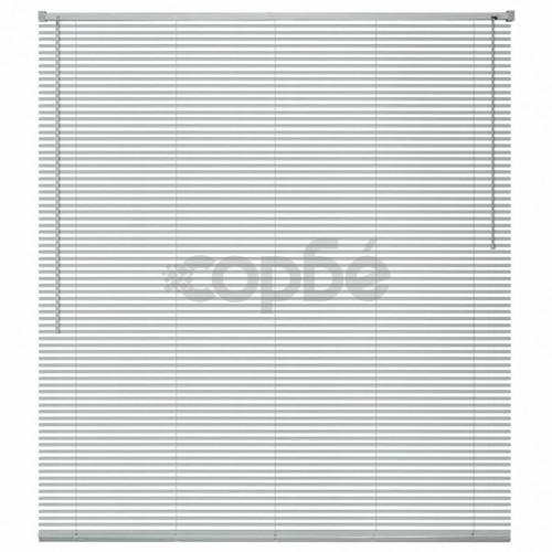 Алуминиеви щори за прозорци, 80x130 см, сребристи