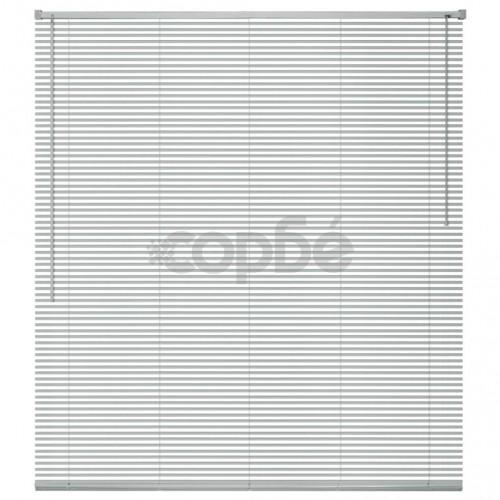 Алуминиеви щори за прозорци, 100x130 см, сребристи