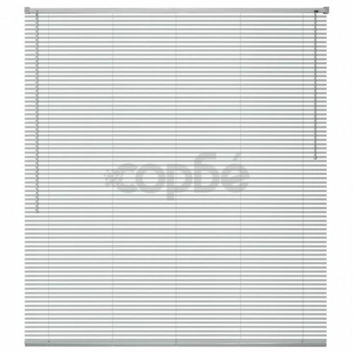 Алуминиеви щори за прозорци, 80x160 см, сребристи