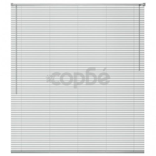Алуминиеви щори за прозорци, 100x160 см, сребристи