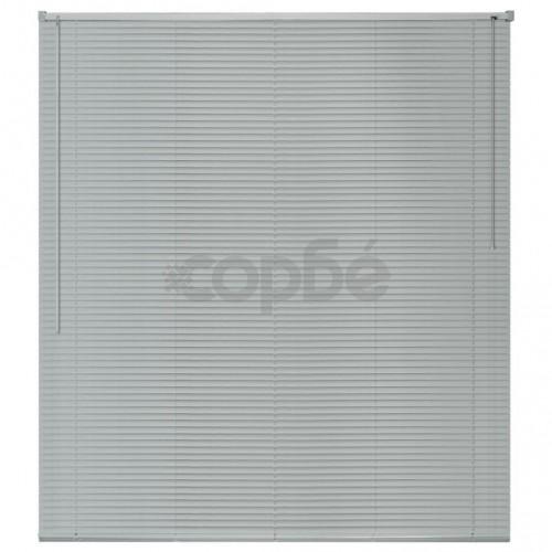 Алуминиеви щори за прозорци, 140x160 см, сребристи