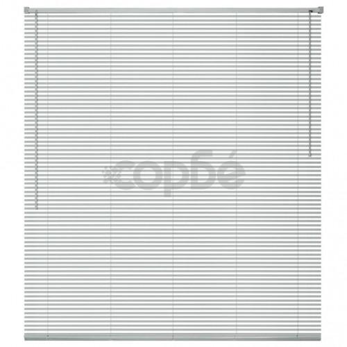 Алуминиеви щори за прозорци, 160x160 см, сребристи