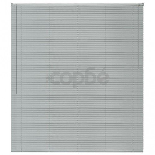 Алуминиеви щори за прозорци, 160x220 см, сребристи