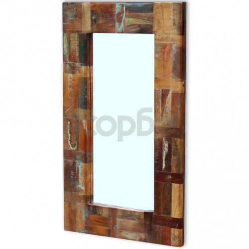 Огледало, регенерирано дърво масив, 80x50 см