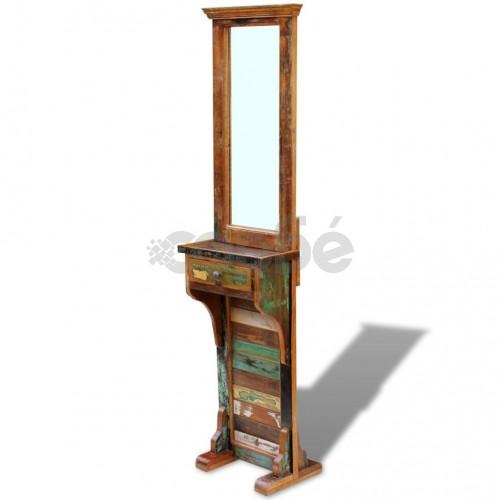 Огледало за антре, регенерирано дърво масив, 47х23х180 cм