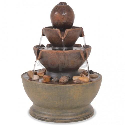 Вътрешен фонтан с помпа, полирезин