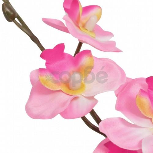 Изкуствено растение орхидея със саксия, 30 см, розова