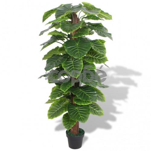 Изкуствено растение трилистник със саксия, 145 см, зелено