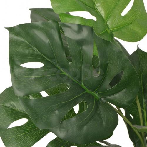 Изкуствено растение монстера със саксия, 45 см, зелено