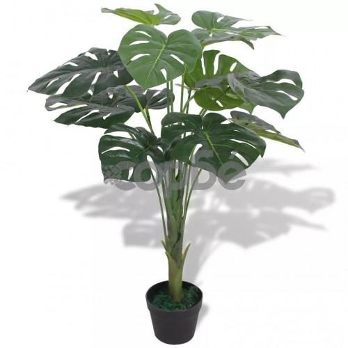 Изкуствено растение монстера със саксия, 70 см, зелено
