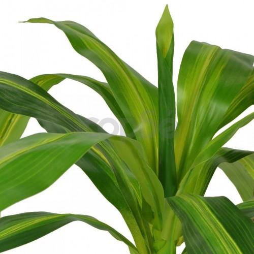 Изкуствено растение драцена със саксия, 100 см, зелено