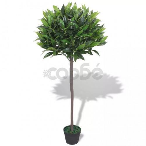 Изкуствено растение лавър със саксия, 125 см, зелено