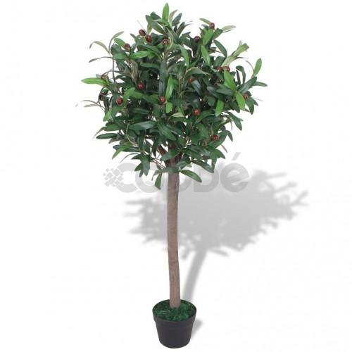Изкуствено растение лавър със саксия, 120 см, зелено