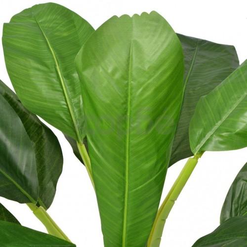 Изкуствено растение банан със саксия, 150 см, зелено