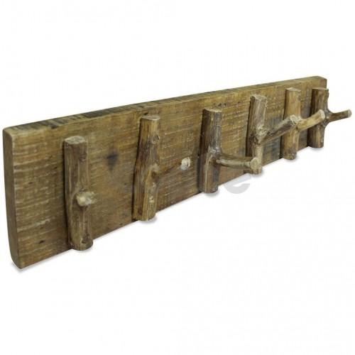 Закачалка за дрехи, регенерирана дървесина масив, 60х15 см