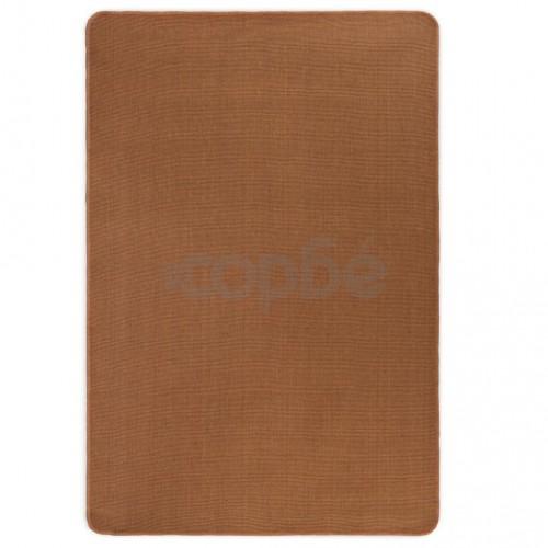 Килим от юта с латексов гръб, 80x160 см, кафяв