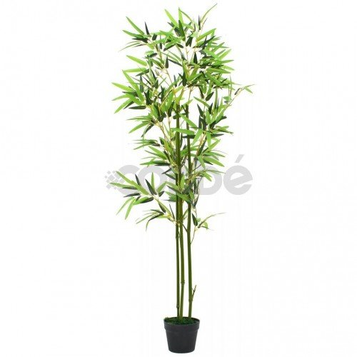 Изкуствено растение бамбук в саксия, 150 см, зелено